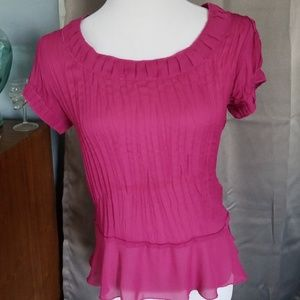 Tops - Plum pleated top